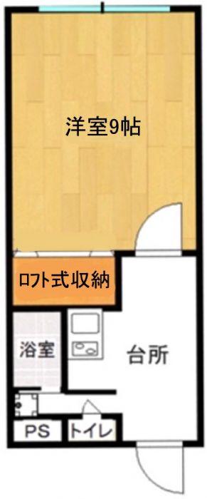 1階ですがベランダ側高さがあります。