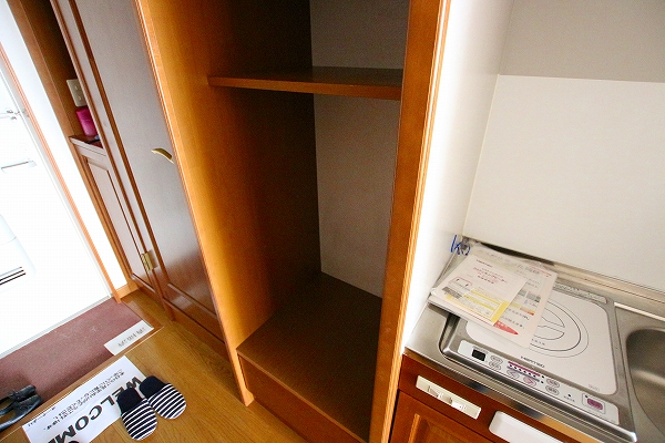冷蔵庫&電子レンジ置場